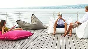 chillisy®® - Puf para Exteriores, Color Rosa, 160 x 120 cm, para Interiores y Exteriores