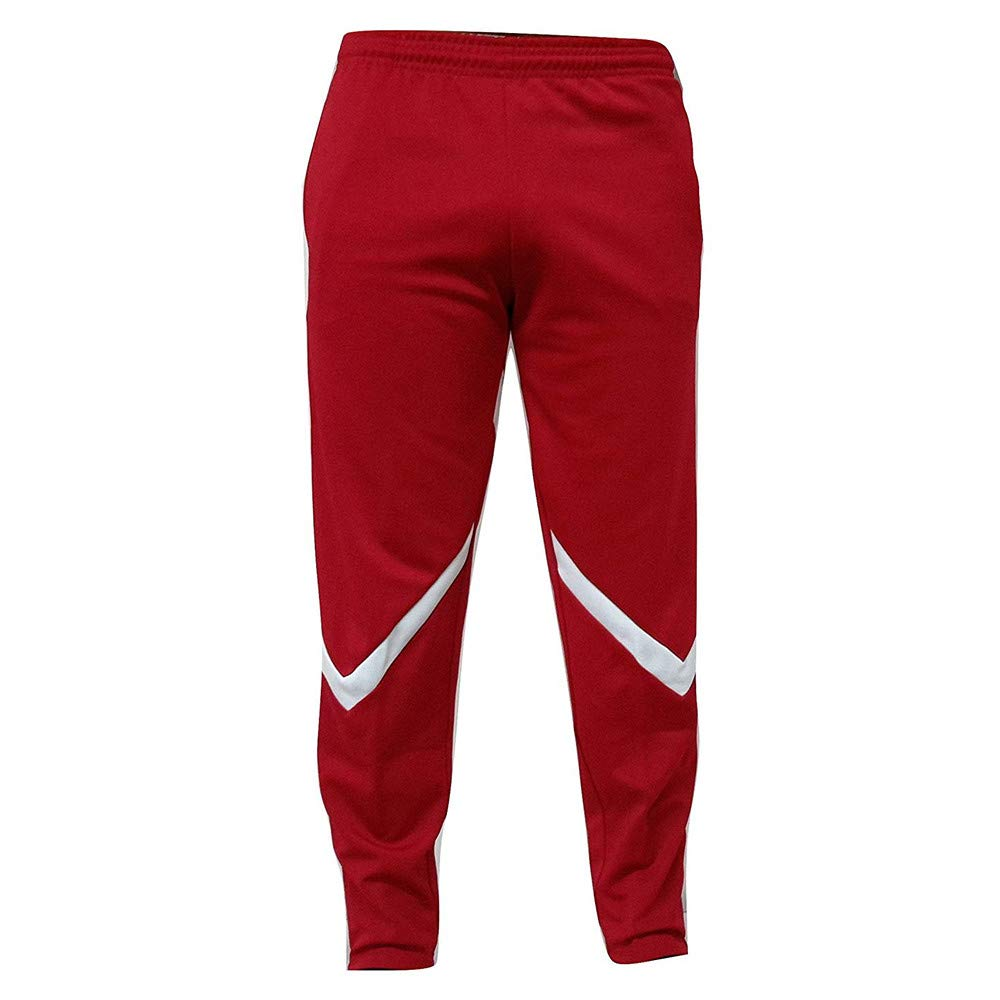 BHYDRY Mens Open Hem Jogging Bottoms Blue Sport Fitness Pant Casual Loose Sweatpants Drawstring Trousers