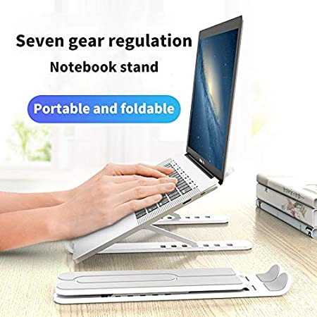 Ivory Adjustable Foldable Laptop Stand Non-Slip Desktop Notebook Holder Laptop Stand for Macbook Pro Air iPad Pro Dell HP