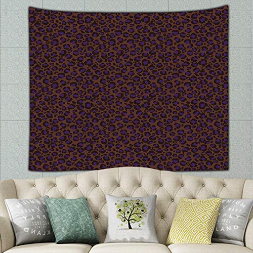 (zhufeifan Funky Leopard Print Fun Animal Hair Miscellaneous Tapestry Bohemian Tapestry Hippie Tapestry Bedroom Living Room Dorm Art Wall Hanging 50ʺ × 60ʺ)