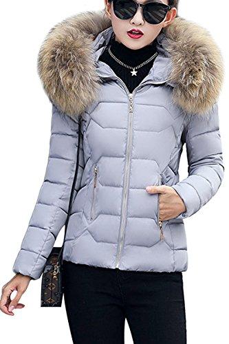 YMING Manteau Hiver Veste Court Femme Jacket rE5Hwgrq