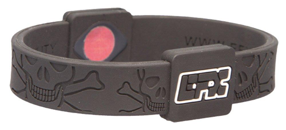 EFX(イーエフエックス) EFXリストバンドスポーツ Black&WhiteSkull&Crossbones L 4001567B   B003HF0UGY