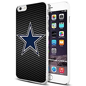 NFL Dallas Cowboys , , Cool iPhone 6 Plus (6+ , 5.5 Inch) Smartphone Case Cover Collector iphone TPU Rubber Case White [By PhoneAholic]