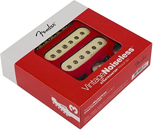Noiseless Stratocaster Pickups (Fender Vintage Noiseless Stratocaster Pickups Set White,  3 Pickups)