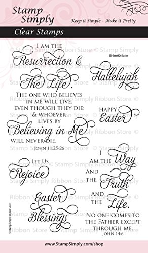 - Stamp Simply Clear Stamps Easter Christian Religious 4x6 Sheet - 6 Pieces