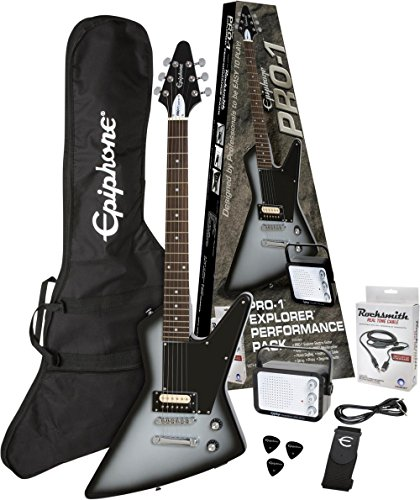 Epiphone PPEG-EDEXSBCH1-15 Electric Guitar Pack, Silverburst