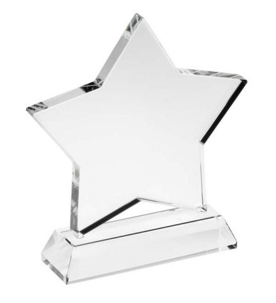 ENT Trofeo Estrella de Cristal Blanco - Art. EL31492 - LON. 3 cm - ANC. 10 cm - Alt. 13,5 cm - Ten by Varotto & Co. VAROTTO ALFREDO