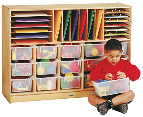 Jonti-Craft 0316JC E-Z Glide Sectional Cubbie-Tray Mobile Unit with Colored Trays