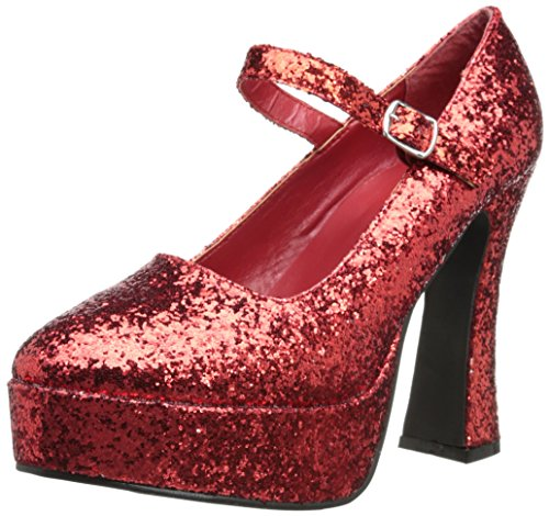 Ellie Shoes Women's 557 Eden G Glitter Maryjane Platform Pump, Red Glitter, 7 M US from Ellie Shoes