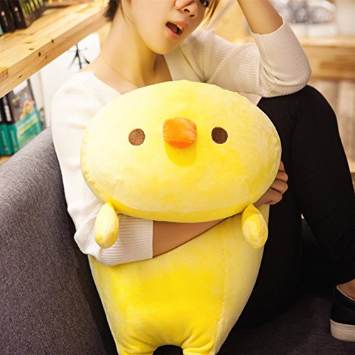 """KaiPoint Cartoon Cute Dolls Children Pillow Space Cotton Chick Plush Doll Pillow Girlfriend Present Good Friend Gift ((23""""X13"""") HXW)"""