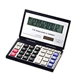 Calculator, Charm Sonic Solar LCD Display Office Calculator, Folding calculator for Business, School and Office