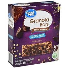 Great Value Gluten-Free Granola Bars, Dark Chocolate, 4.4 oz, 5 Count