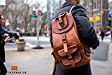 Leather Native 16'' Genuine Leather Retro Rucksack School/Travel Drawstring Macbook Backpack Great Gift For Men And Women Summer Sale!