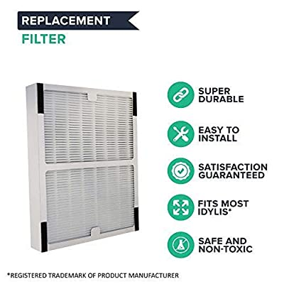 "Crucial Air Replacement Compatible with Idylis Air Purifier Parts - 1.4"" x 9.8"" x 7.9"" - Pair with Hepa Style Filters Part IAP-10-100, IAP-10-150 Model IAF-H-100A for Purified, Healthier Air"