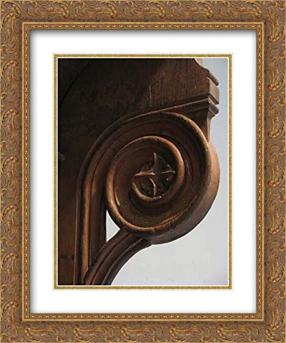 French Culture - 20x24 Gold Ornate Frame and Double Matted Museum Art Print - Triple Choir Stall with Canopy