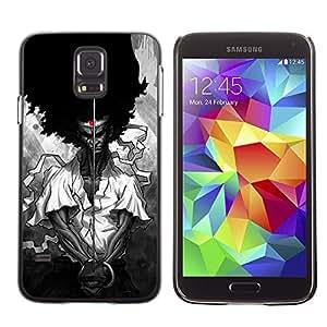 Samurai Negro Ferguson Derechos Libertad- Metal de aluminio y de plástico duro Caja del teléfono - Negro - Samsung Galaxy S5