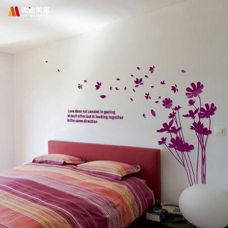 Mazzo di fiori fiore romantico camera-camera da letto con il ...