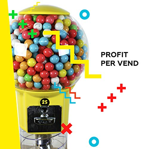 Spiral Gumball Machine Lil Wizard 27 inch - set up for $0.25 - Gumballs 1 inch - Toys in Round Capsules - 1'' Bouncy Balls 25 mm - Blue Vending Gum Machine - Great Gift for Kids by Global Gumball (Image #4)