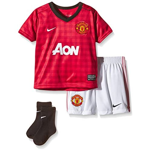Nike Manchester United 2012/13 SS Infant Home Replica Football Kit Rouge diablo red/black/white 9-12