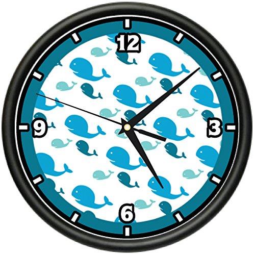SignMission Whale Art Wall Clock Animals Cute Ocean sea Marine Gift, Beagle