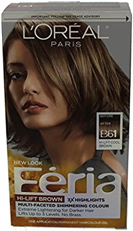 Feria Hair Color, B61 Hi-Lift Brown (Packaging May Vary) by L ...
