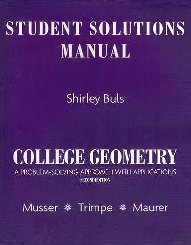 amazon com student solutions manual for college geometry a problem rh amazon com Geometry Math Problems Geometry Formulas
