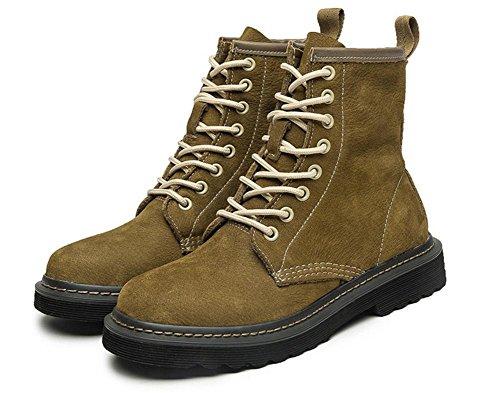Cuero eur37uk455 5 uk Estilo Mujeres Botas 5 Real De Zapatos Martín Aire Al Tobillo Nvxie Primavera Green Ocio Otoño Británico Plano Las Negro Eur Libre 38 q6Yxwn1B