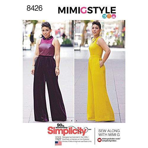 (Simplicity Pattern 8426 AA Misses' & Plus Size Jumpsuit by Mimi G, Size 10-12-14-16-18)