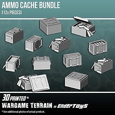 EnderToys - Caja de munición, Paisaje Terreno para Mesa de 28 mm, miniaturas de Juego de Guerra, Impreso en 3D y pintable: Amazon.es: Juguetes y juegos