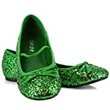 Green Sparkle Flat Shoes Child - 11/12
