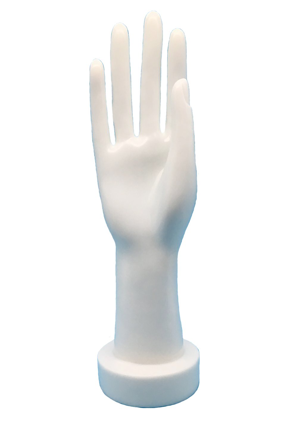 Hi_MyStore Female Right Hand Jewelry Display Stand with Support Base Resin (white)