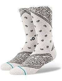 New Stance Men's Barrio Sock Cotton Nylon Spandex Grey