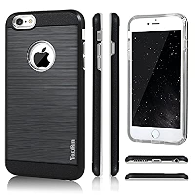 6s Case, iPhone 6&6s Case - YOKIRIN 2 in 1 Design [Heavy Duty] Brushed Design Hard Plastic TPU Protective Case Bumper for iPhone 6&iPhone 6s 4.7''