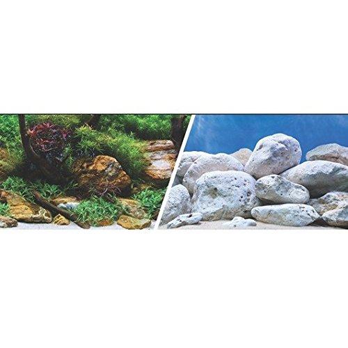 Marina Double Sided Aquarium Background - Aqua Garden/Bright Stone - 30.5 cm x 7.6 m (12 x 25 ft) Rolf C. Hagen Inc. 11753