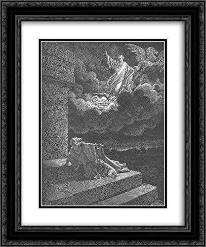 Gustave Dore 2X Matted 20x24 Black Ornate Framed Art Print 'Elijah Ascends to Heaven in a Chariot of Fire'