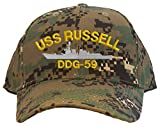 USS Russell DDG-59 Embroidered Baseball Cap - Digital Camo