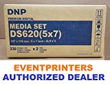 DNP 5x7'' media for DS620A Printer (Total of 460 Prints). Paper and ribbon print kit. COMES WITH FREE SAMPLES OF OUR BEST SELLING PHOTO FOLDERS ( EVENTPRINTERS BRAND ).