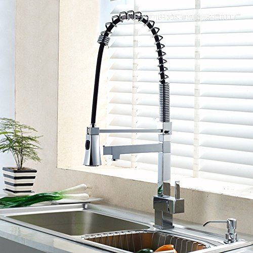 Furesnts Modern home kitchen and bathroom faucet Zinc-alloy Springs kitchen Faucets Faucets,(Standard G 1/2 universal hose ports)