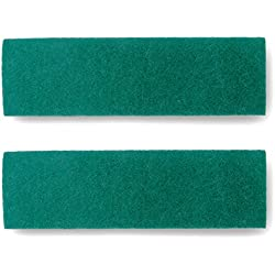 "Microfiber Mop Scrubbing Pads Replacement / Refill (2 Pack) - Heavy Duty Scour Style Pads for 18"" Mop - Great for Tiles, Garage, Workshop, Yoga Studios and other Floors"