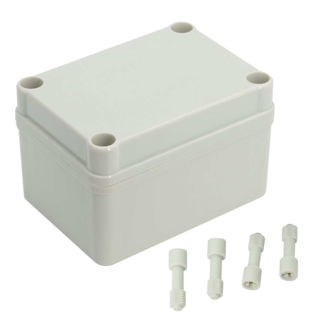 LeMotech Waterproof Dustproof IP67 Junction Box DIY Case Enclosure Gray 7.9' x 7.9' x 3.7'(200mm x 200mm x 95mm)