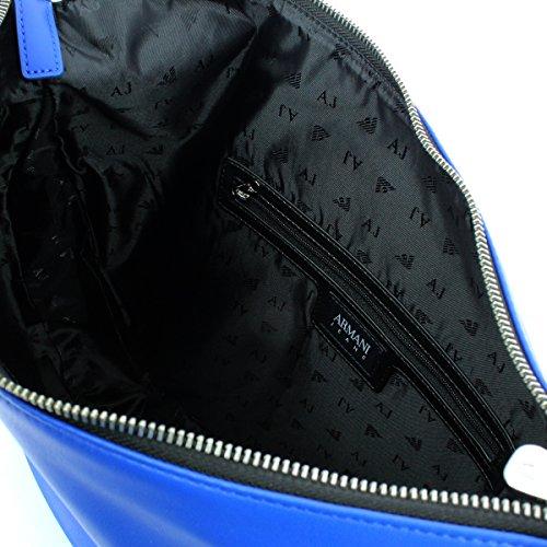 Gli amanti dello shopping e Womens borse a tracolla, colore Grigio , marca ARMANI JEANS, modello Gli Amanti Dello Shopping E Womens Borse A Tracolla ARMANI JEANS SATIRE II Grigio Blu Royal