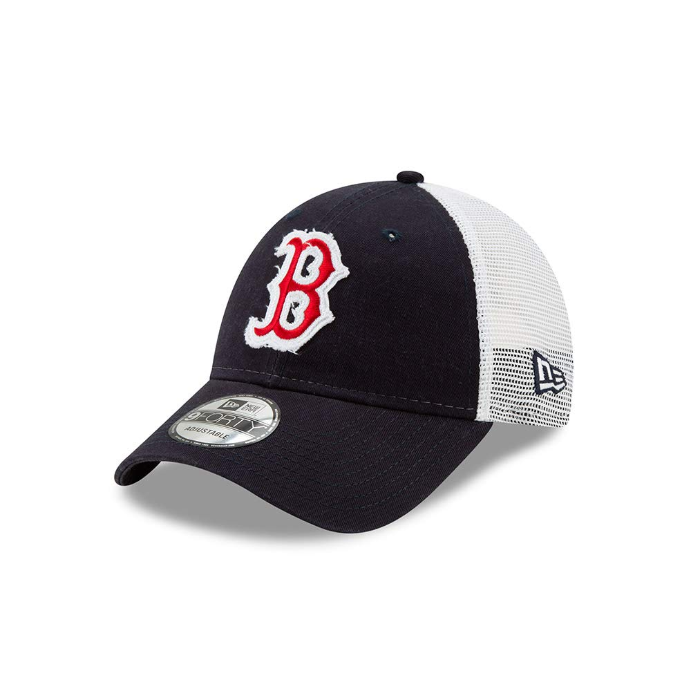 483e7d2a Amazon.com : New Era Boston Red Sox Team Truckered 9FORTY Adjustable Hat/Cap  : Clothing