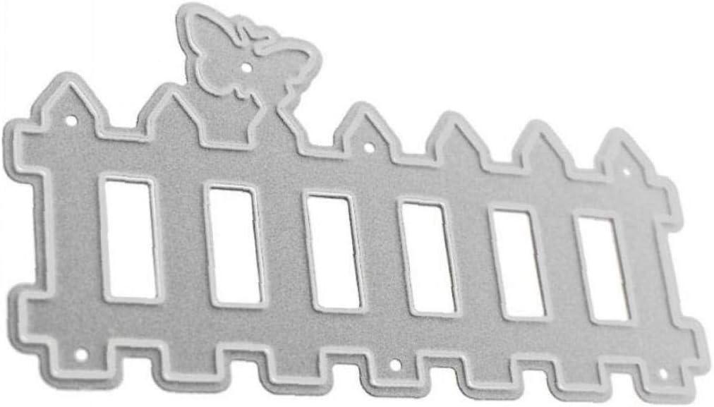 Valla Corte De Corte De Metal En Relieve Sacador Plantilla De La Plantilla De Tarjetas DIY Scrapbooking Álbum De Fotos Arte De Papel Fuentes del Arte Decoración