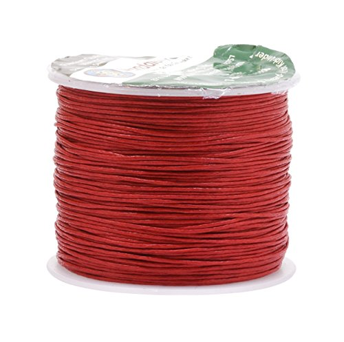 Mandala Crafts 0.5mm 109 Yards Jewelry Making Crafting Beading Macramé Waxed Cotton Cord Thread -
