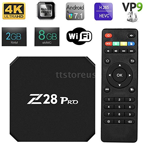 FidgetFidget Z28 PRO 2G/8G Smart TV Box Android 7.1 4Kx2K WiFi Streamer Players EU Plug G0M2
