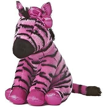 Amazon Com Aurora World Girlz Nation Pink And Black Zebra Plush 11