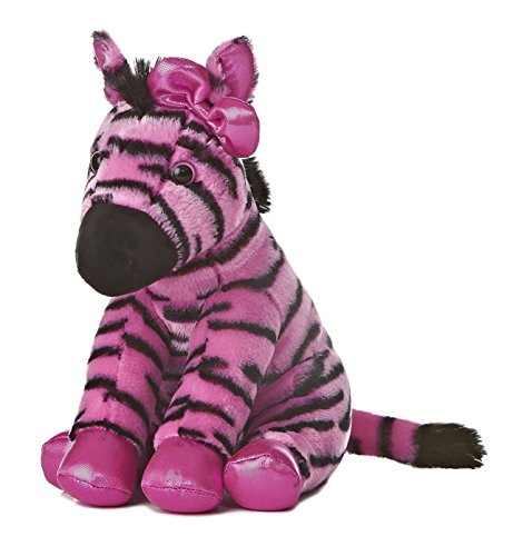(Aurora World Girlz Nation Pink and Black Zebra Plush, 11