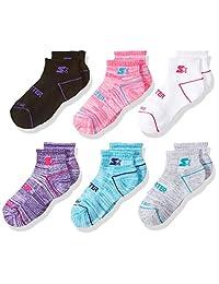 Starter girls Big Girls 6-pack Quarter-length Athletic Socks