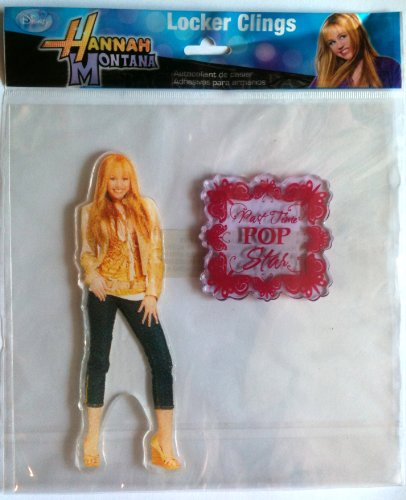 Hannah Montana Wall Decorations - Hannah Montana Disney MILEY CYRUS as Locker & Window Cling Decoration PART TIME ROCK STAR (6 1/2 Inches Tall)