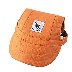 Tinksky Pet Dog Canvas Hat Sports Baseball Cap with Ear Holes for Small Dogs - Size S
